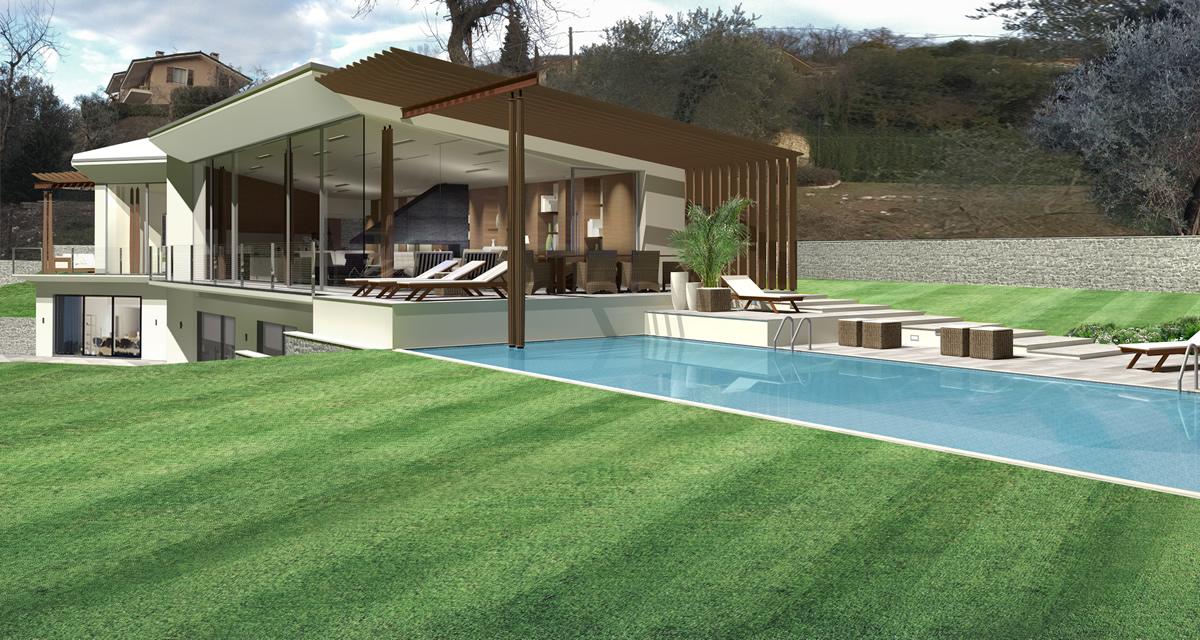 Progetto villa un piano planimetria casa in legno mq with for Piani casa accessibili